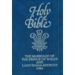 Holy Bible The Marriage Of The Prince Of Wales and Lady Diana Spencer 1981 Gold Cut